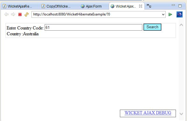 Apache Wicket Ajax Request Example with AjaxButton ...