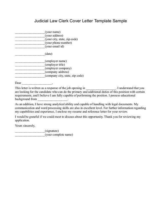Technical Clerk Cover Letter
