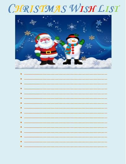 Christmas Wish List Template | Free Printable Business and Legal Forms