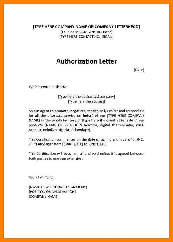 7+ sample of authorization letter for claiming | handy man resume