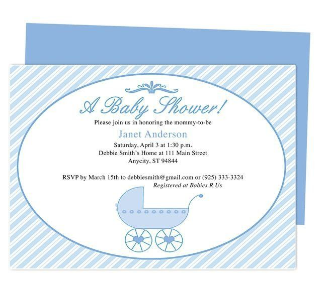 Free Baby Shower Invitation Templates For Word | Template Design