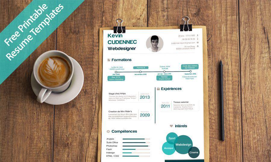 40 Best Free Resume Templates 2017 PSD, AI, DOC