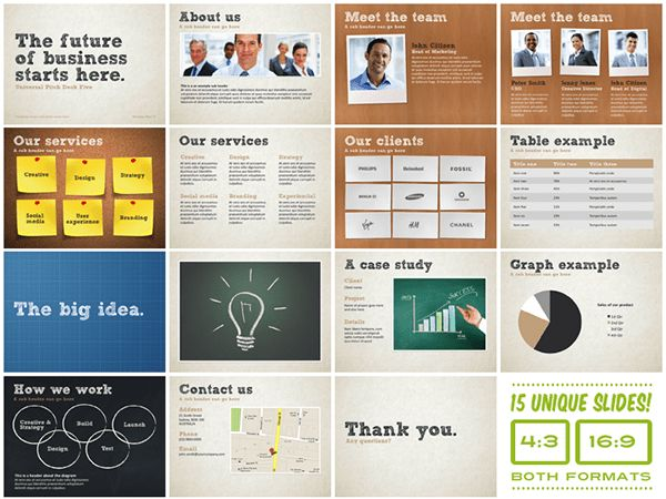 Universal Pitch Deck Five PowerPoint Template on Behance