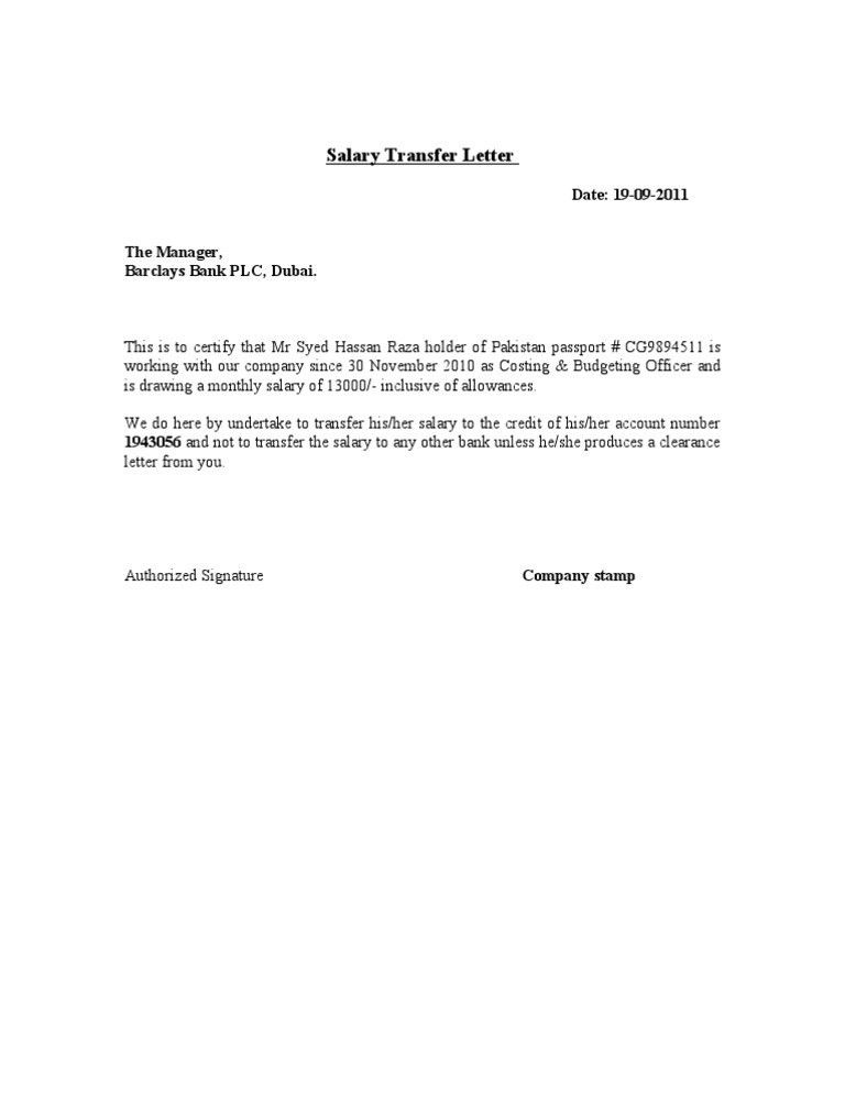 Salary letter format salary certificate template 28 free word salary transfer letter format bst yelopaper Images