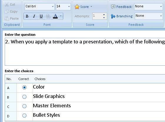 Make Adobe Flash a Flash Quiz Maker - Using Quiz Templates