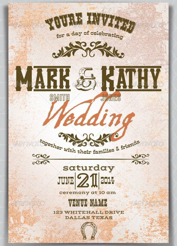 21+ Western Wedding Invitation Templates – Free Sample, Example ...