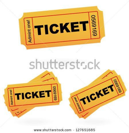 Admit One Style Tickets Vector Template Stock Vector 127651685 ...