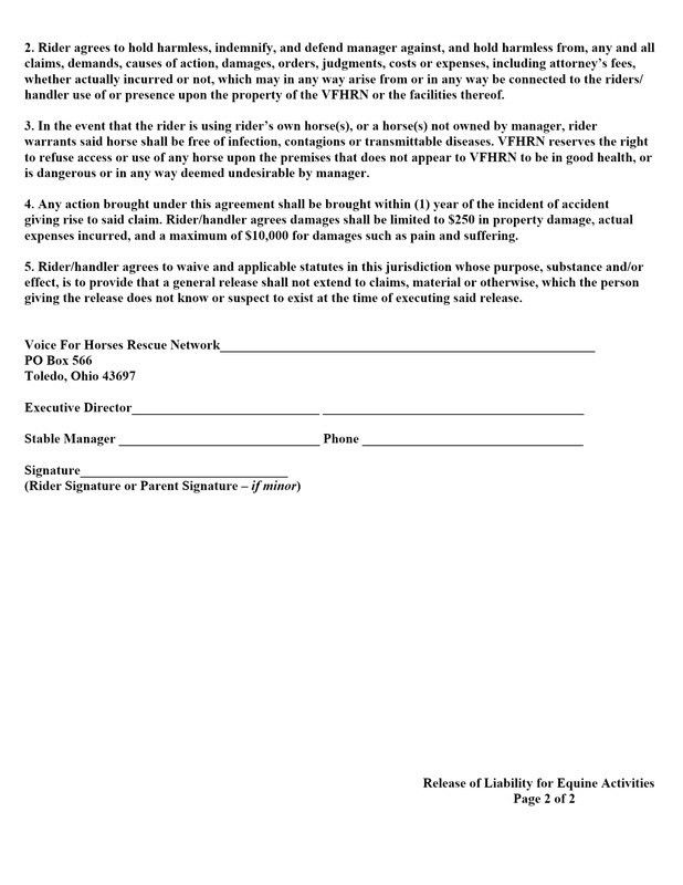 VFHRN Policies - Voice For Horses Rescue Network An Ohio 501 (c)(3 ...