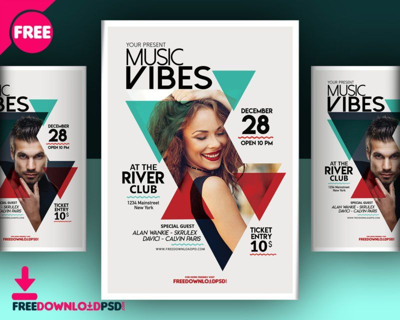 Download Music Club Flyer Template | FreedownloadPSD.com