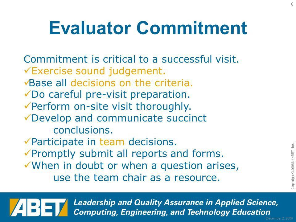 ABET Program Evaluator Re-Training – Materials Engineering - ppt ...