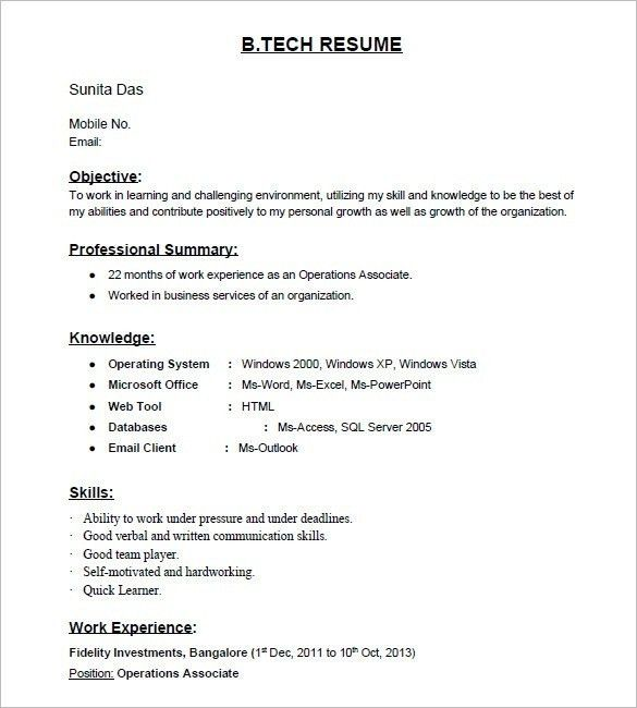 Is there any site for resume samples for...(2017) - Quora