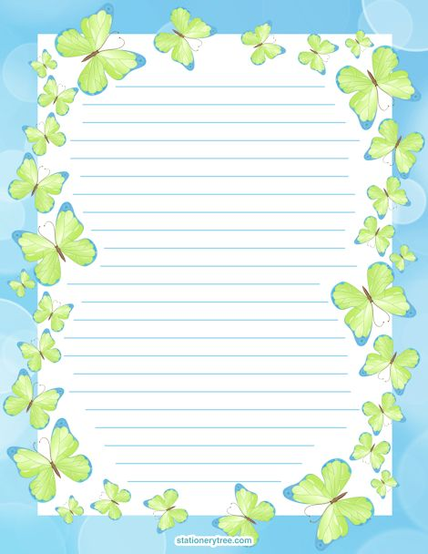 Kid writing paper with borders -I wish I could find this somewhere ...