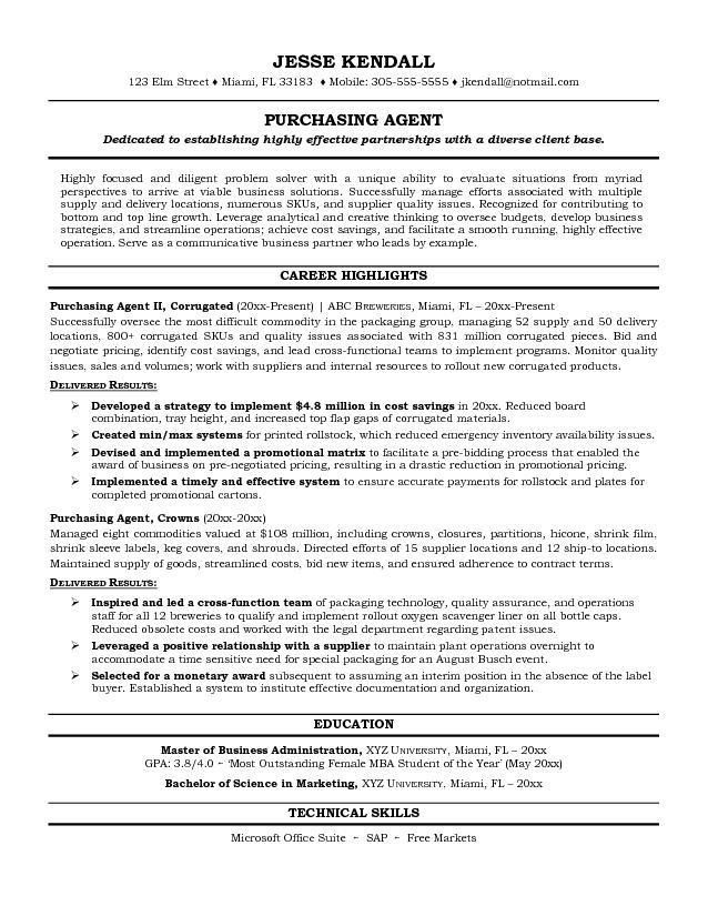 sample buyer resume buyer resume sample template example job