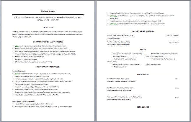 dental receptionist resume example administrative assistant resume ...