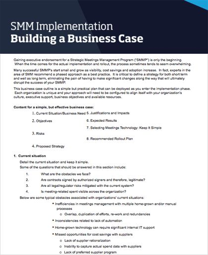 SMM Starter Kit: Business Case Template