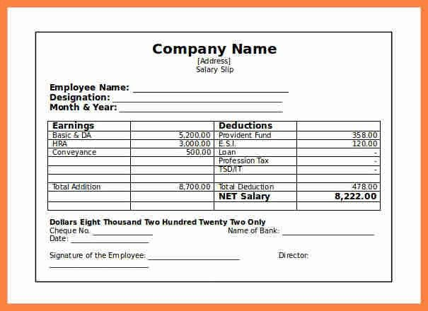 Payment Vouchers Template. 9+ Salary Voucher Sample | Salary Slip ...