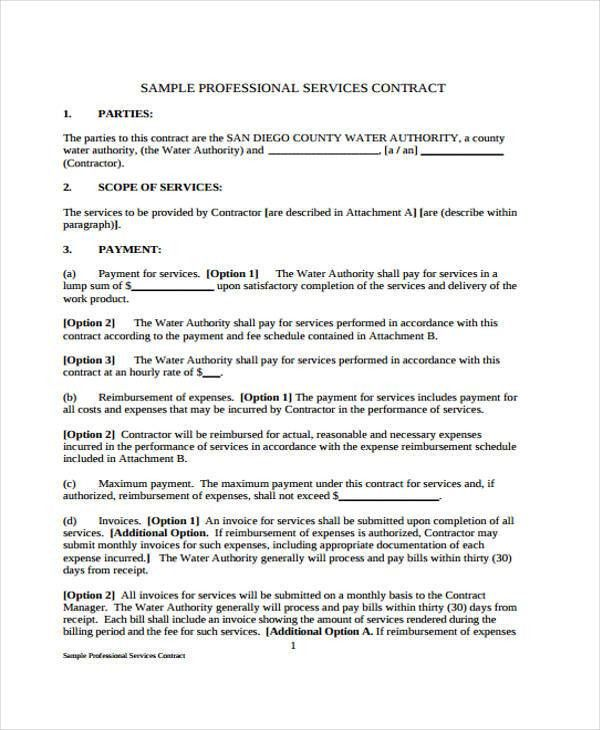 free service agreement template word format download. basic ...
