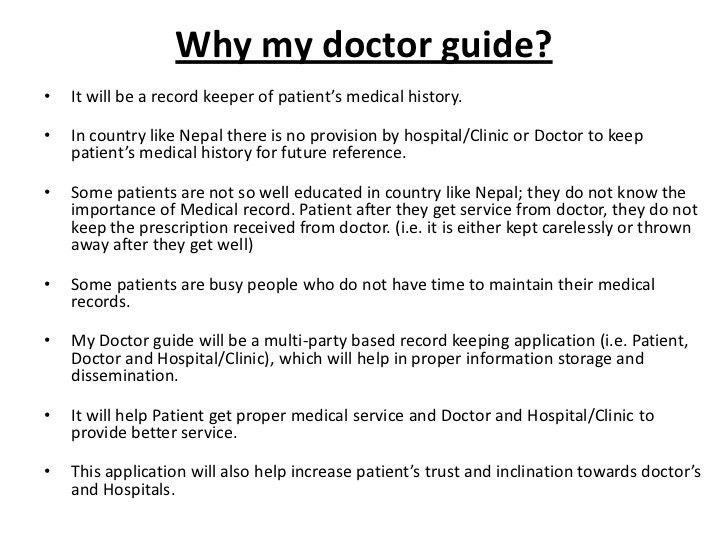 My doctor guide