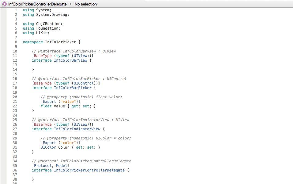 Walkthrough: Binding an iOS Objective-C Library - Xamarin