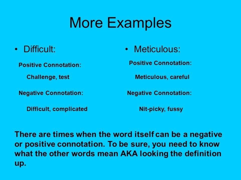 Negative Connotation Examples | World of Examples