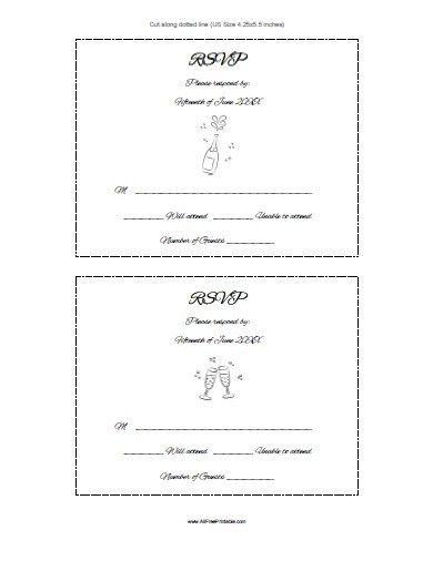 RSVP Card Template - Free Printable - AllFreePrintable.com