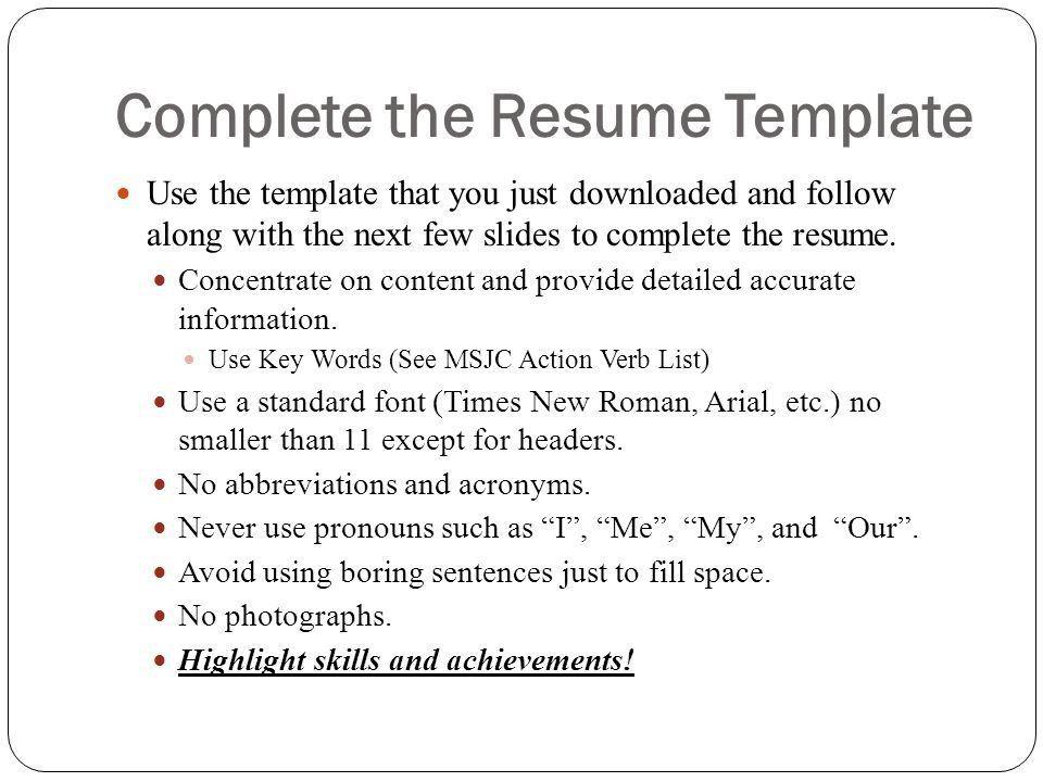Online Resume Workshop - ppt video online download