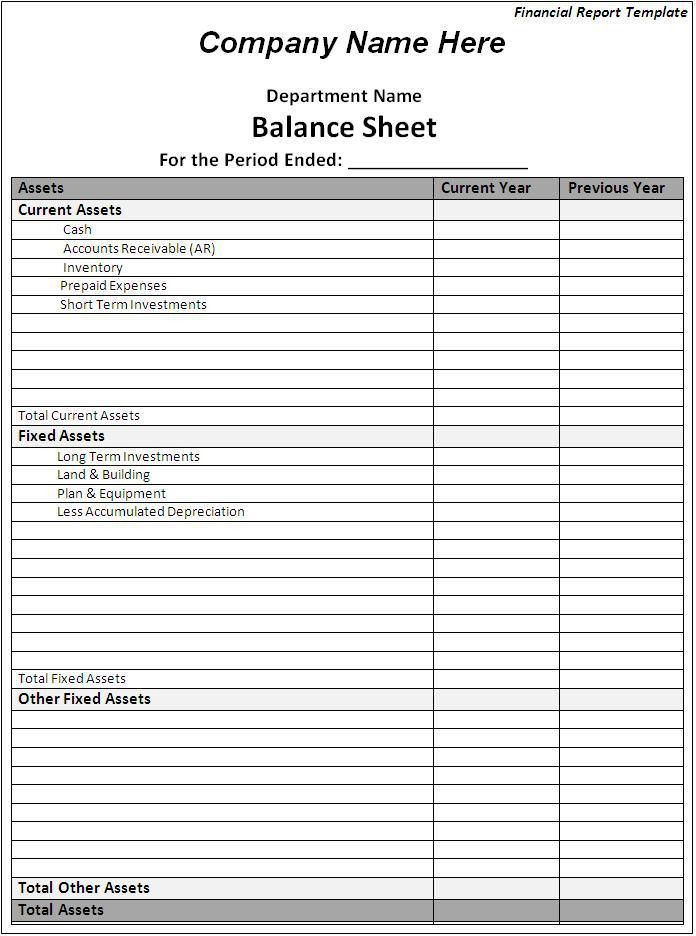 Financial Report Template Download Page | Word Excel Formats