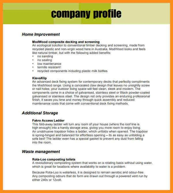 Business Profile Template, business company profile report and ...