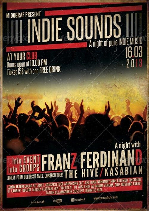 Indie Sounds Flyer | Posters | Pinterest | Flyer template