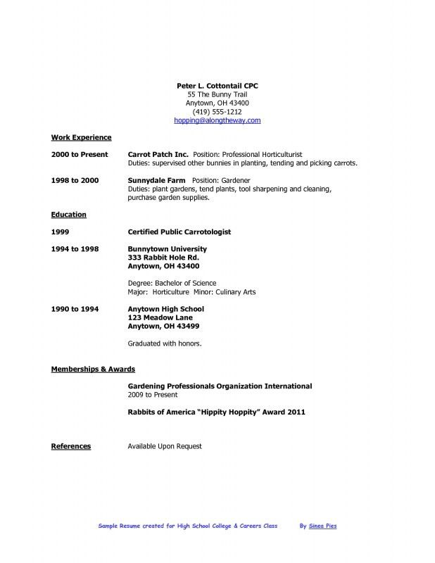 Resume Of High School Student | Samples Of Resumes