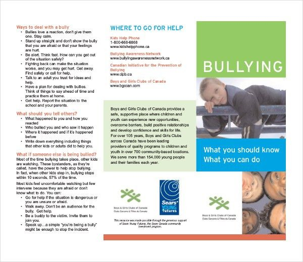 Bullying Brochure Template – 11+ Free PDF Documents Download ...