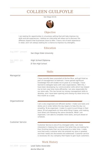 Lead Sales Associate Resume samples - VisualCV resume samples database