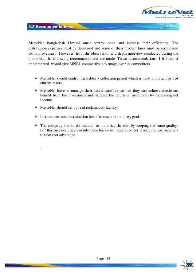Financial statement analysis of MetroNet Bangladesh Limited