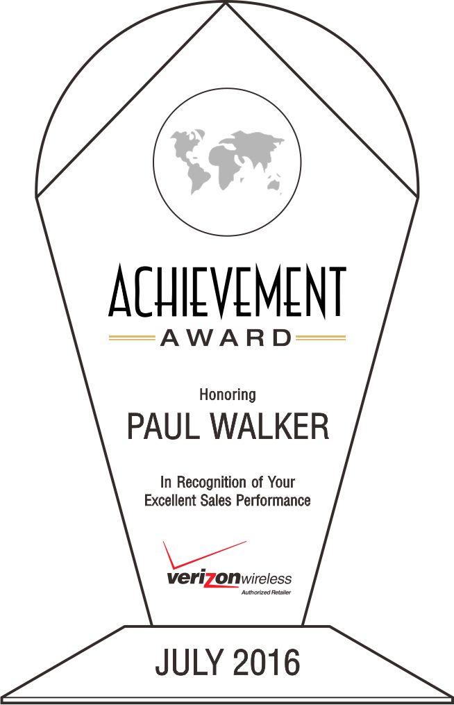 Sales Recognition Achievement Award (#062-3) | Wording Ideas | DIY ...