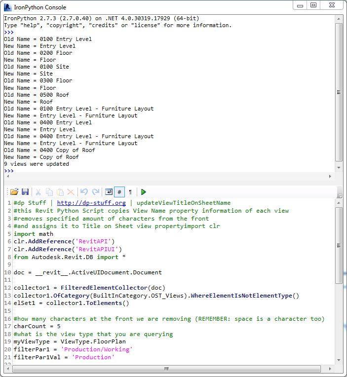 Batch Update Title on Sheet Revit Python Script