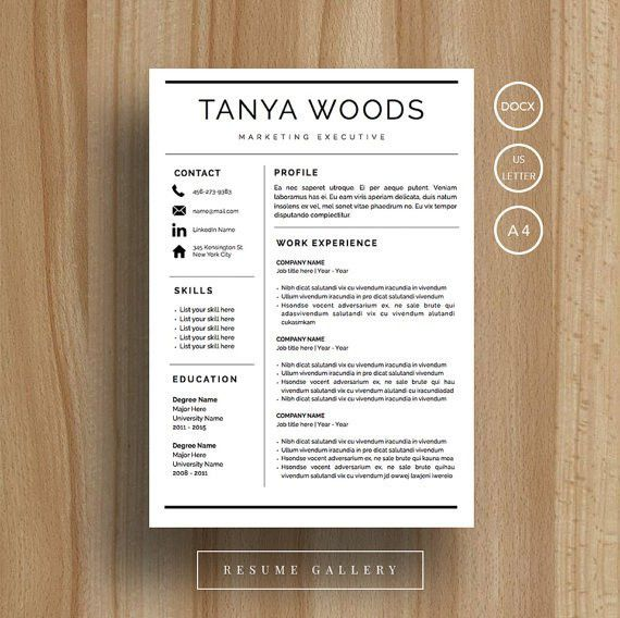 Professional Resume Template | CV Template | Cover Letter | For MS ...