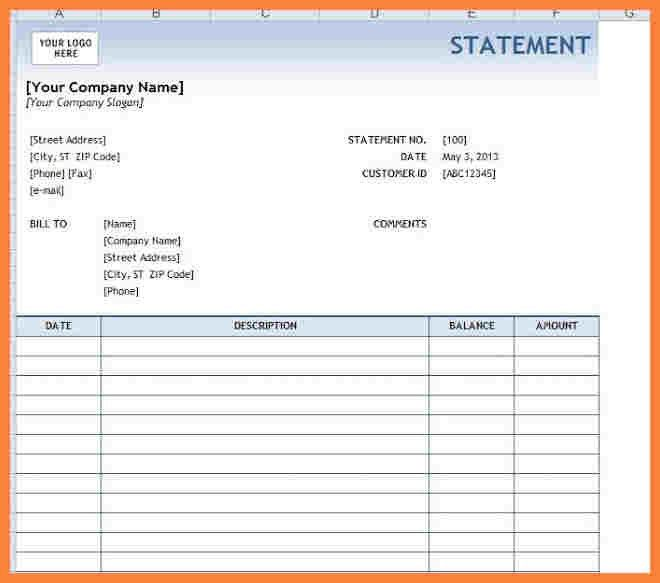 7+ Bank Statement Template Word | Bussines Proposal 2017