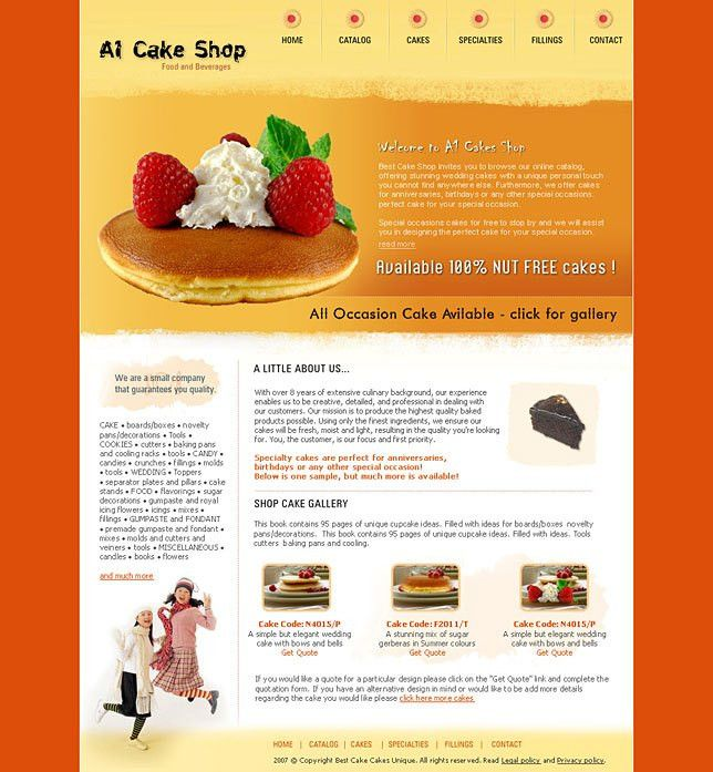 Making ebay templates for cake shops