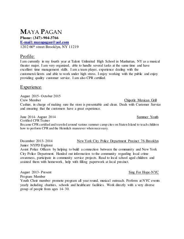 maya pagan resume cover letter