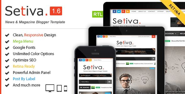 Setiva - Responsive Magazine Blogger Template by PBThemez ...