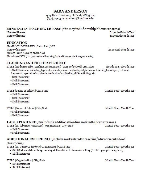 Resumes and Cover Letters | Career Development Center | Hamline ...