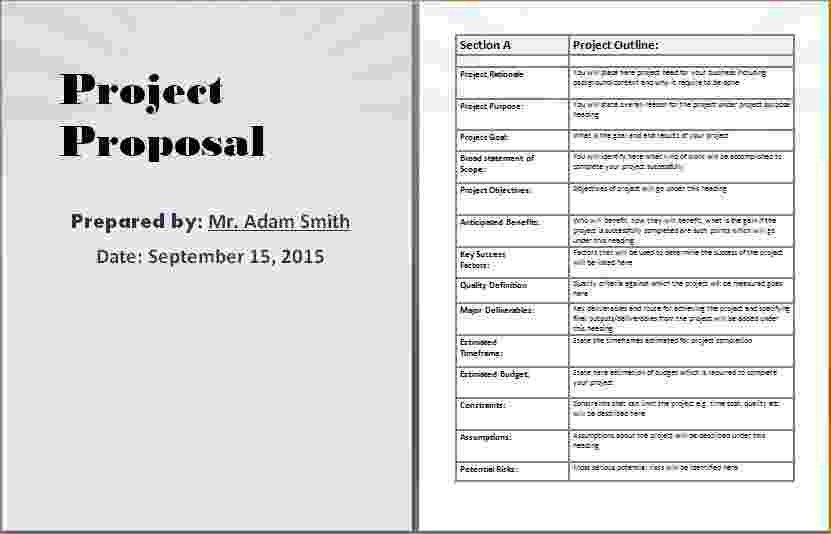 8+ Project Proposal Template Word | Timeline Template