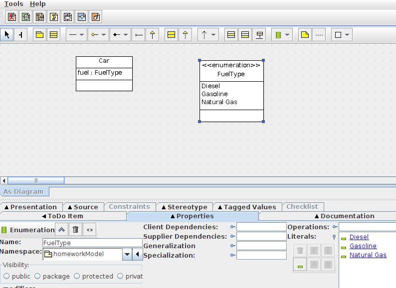 UML class diagram enum - Stack Overflow