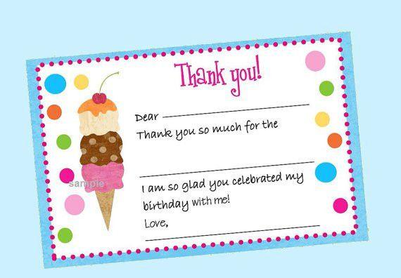 Birthday Thank You Cards – gangcraft.net