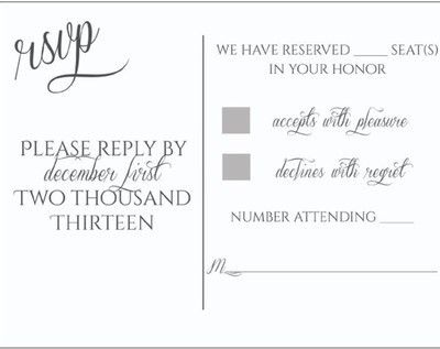 """RSVP's and those who used """"Number of seats reserved in your honor ..."""
