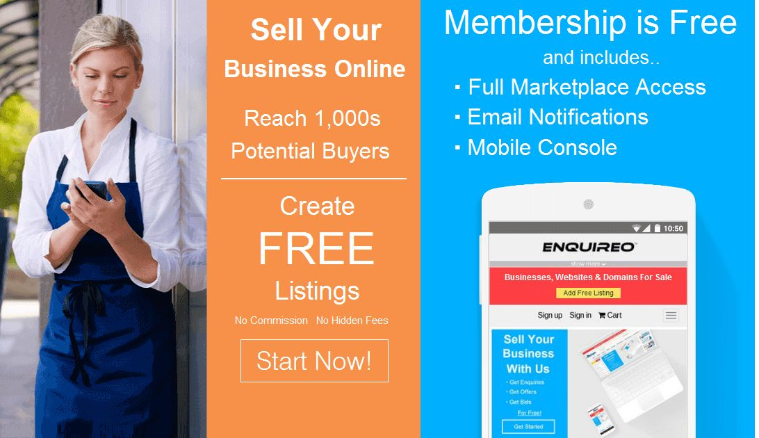 Enquireo: Buy and Sell Businesses, Websites and Domain Names