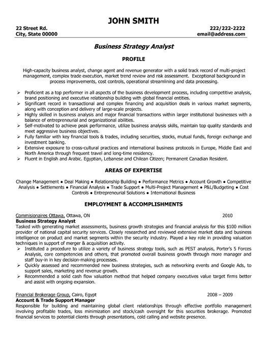 Business Analyst Finance Domain Resume #13848