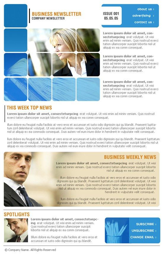 Company Newsletter. Newsletter Design Company | New Design Group ...