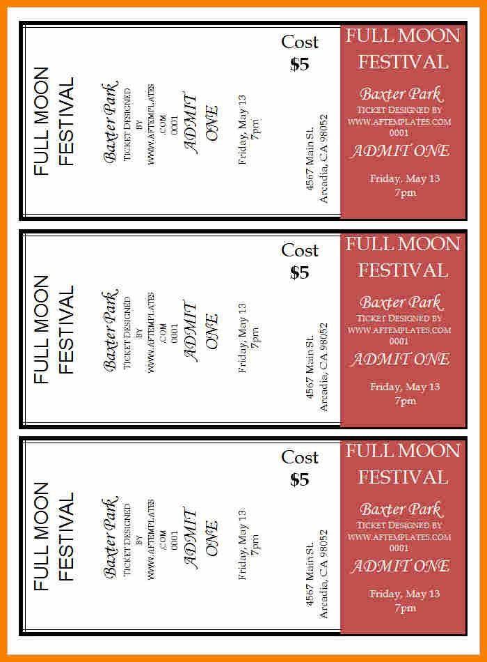 Movie Ticket Template [Template.billybullock.us ]