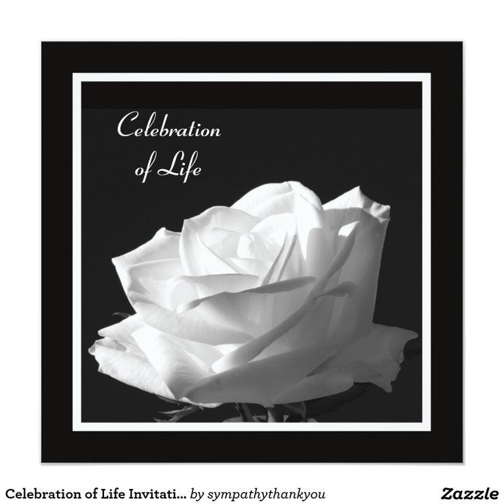 95 best Celebration of life Invitations images on Pinterest ...